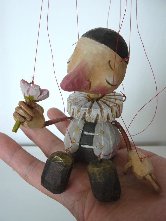 Little Guy With Flower Puppet