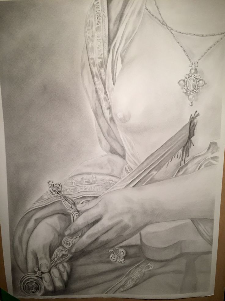 Drawing Suicide of Lucretia