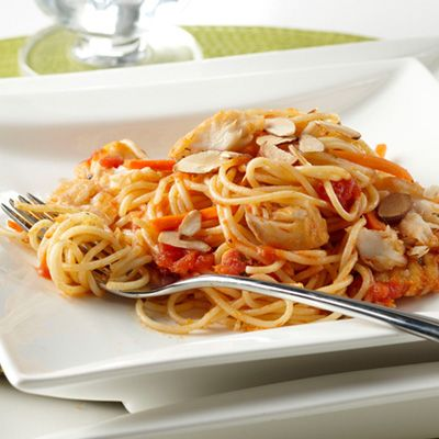 Angel hair con tilapia recipe good housekeeping for Is tilapia fish good for you