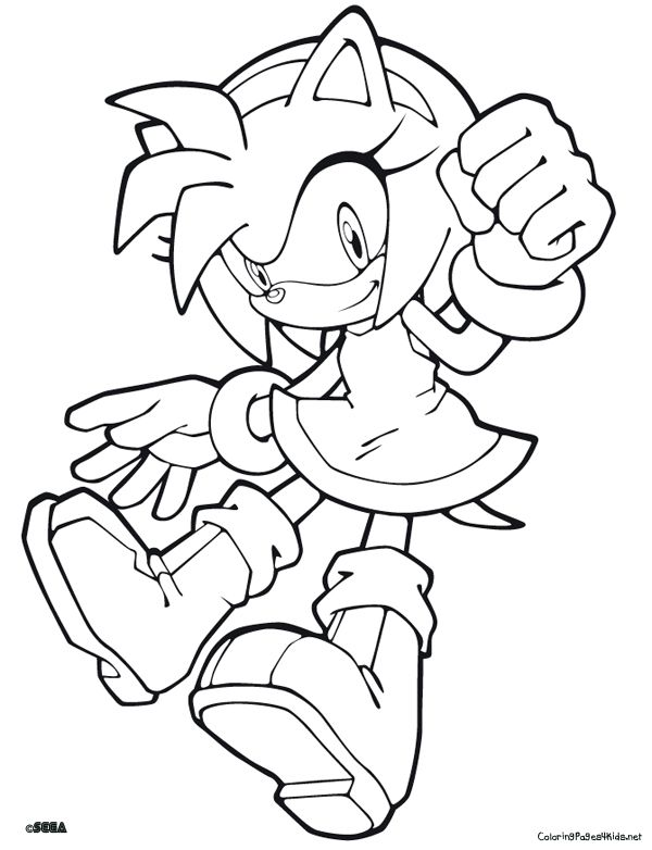sonic character coloring pages - photo#21