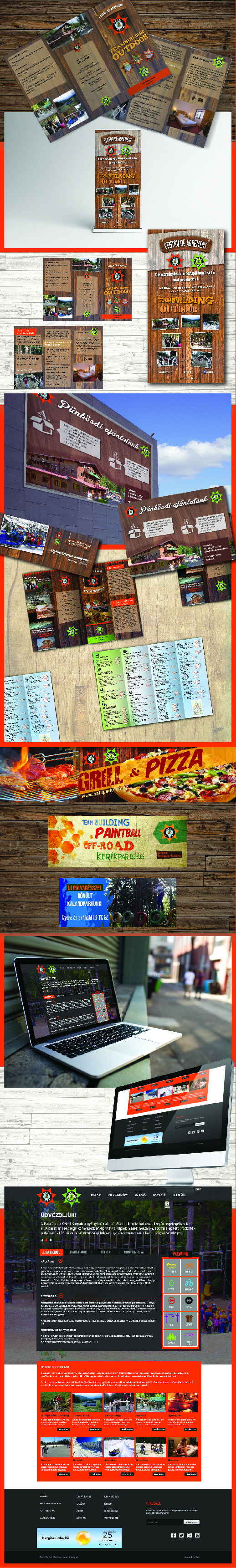 Flyer - Banner - Menu - Rollup - Mockup design for Balu Park - Romania #1 Adventure Park