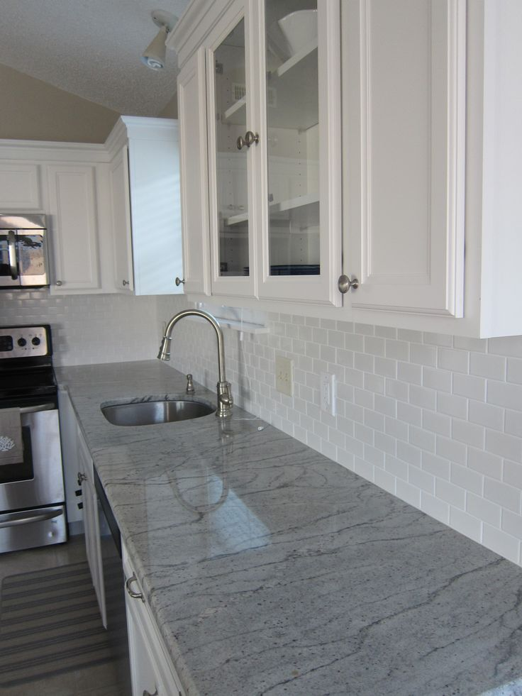 River White Granite White Subway Tile Coastal Living