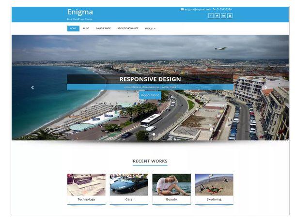 23 Free Responsive Business WordPress Theme