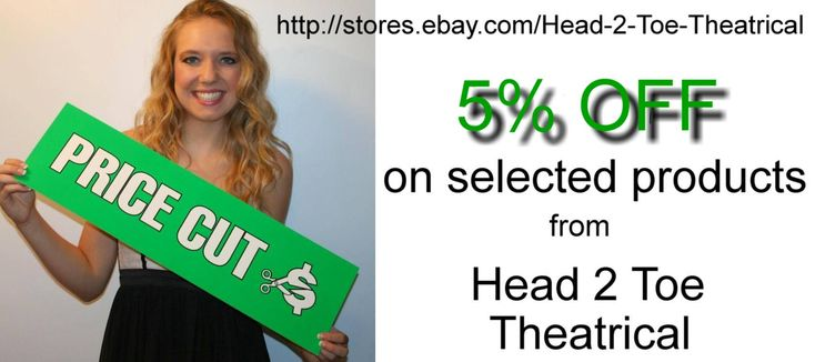SAVE UP TO 5% Cool Theatrical Deals from Head 2 Toe Theatrical.