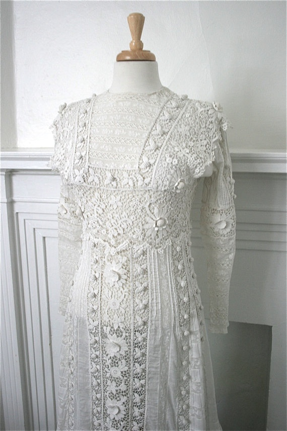 Exquisite 1900s 1910s Edwardian White Cotton by adelinesattic, $1200.00 at Etsy.com 1/13. Beautiful.