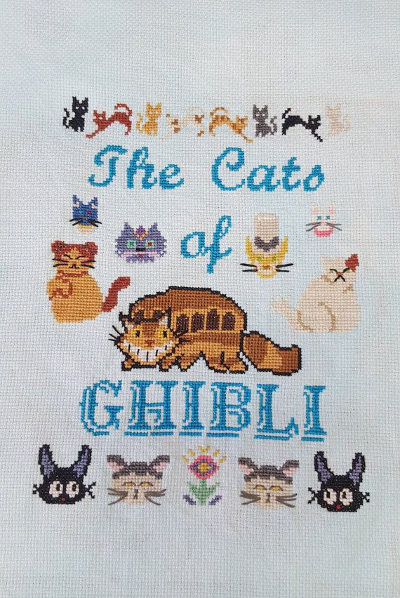 The Cats of GHIBLI Studio Ghibli Sampler Cross by ArmadaDesigns