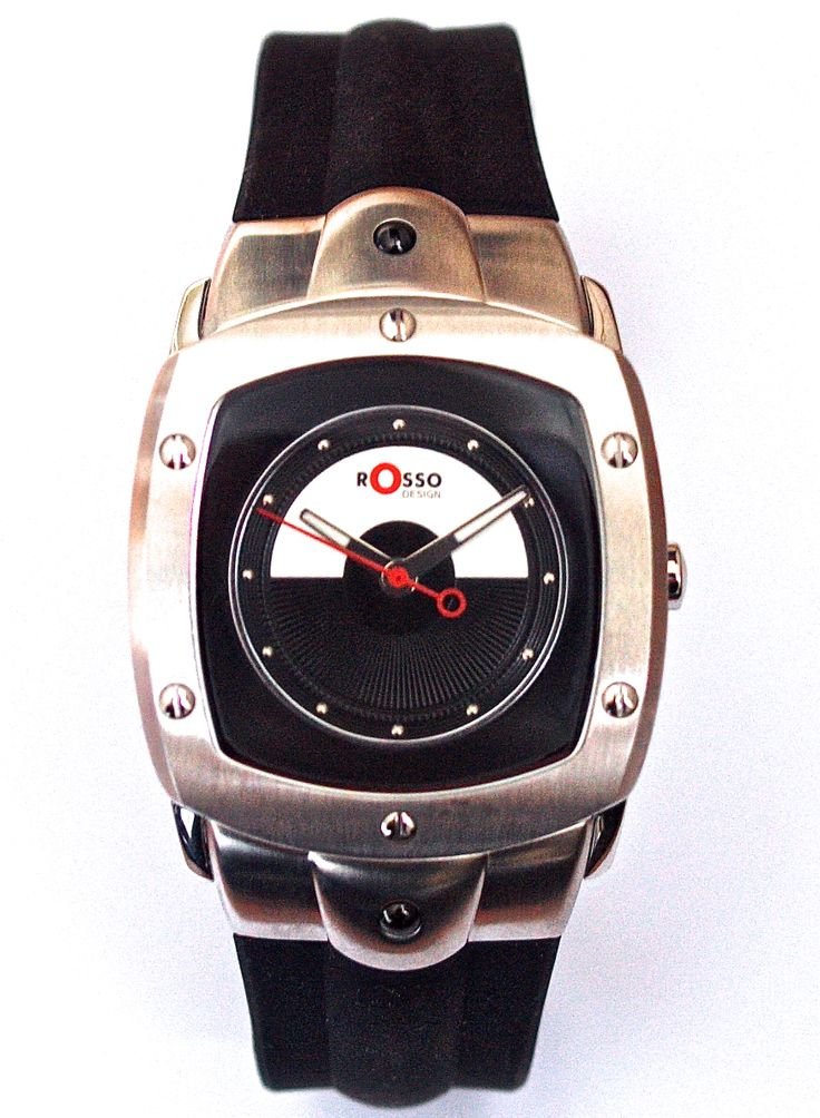 Rosso Design men's watch with curved glass. From €130 for €65. See more at - www.megawatchoutlet.com