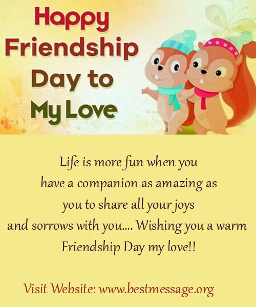 Beautiful Happy Friendship Day messages to wish your love. Latest Collection of lovely Friendship Day quotes and wishes to send to your beloved this day. #friendshipday #friendshipdaymessages #friendshipdaywishes #friendsmessages #bestfriendssms