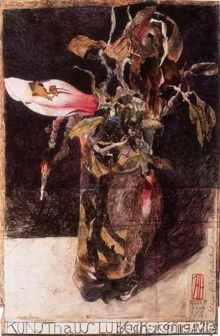 Horst Janssen - Magnolie Lübeck 55 (45,0 x 68,0 cm)