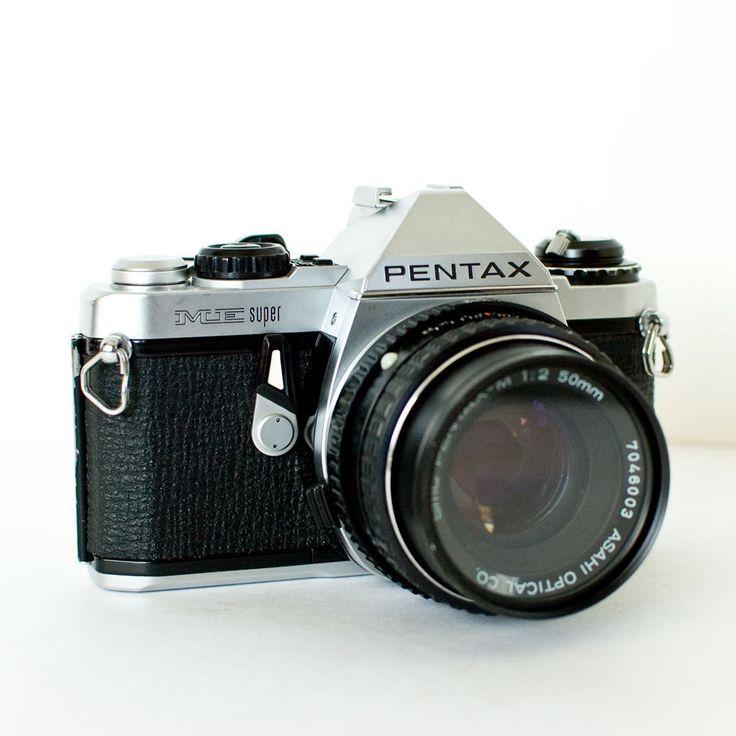 Pentax ME Super SLR 35mm camera with 50mm f2 lens and UV filter. $46.00, via Etsy.