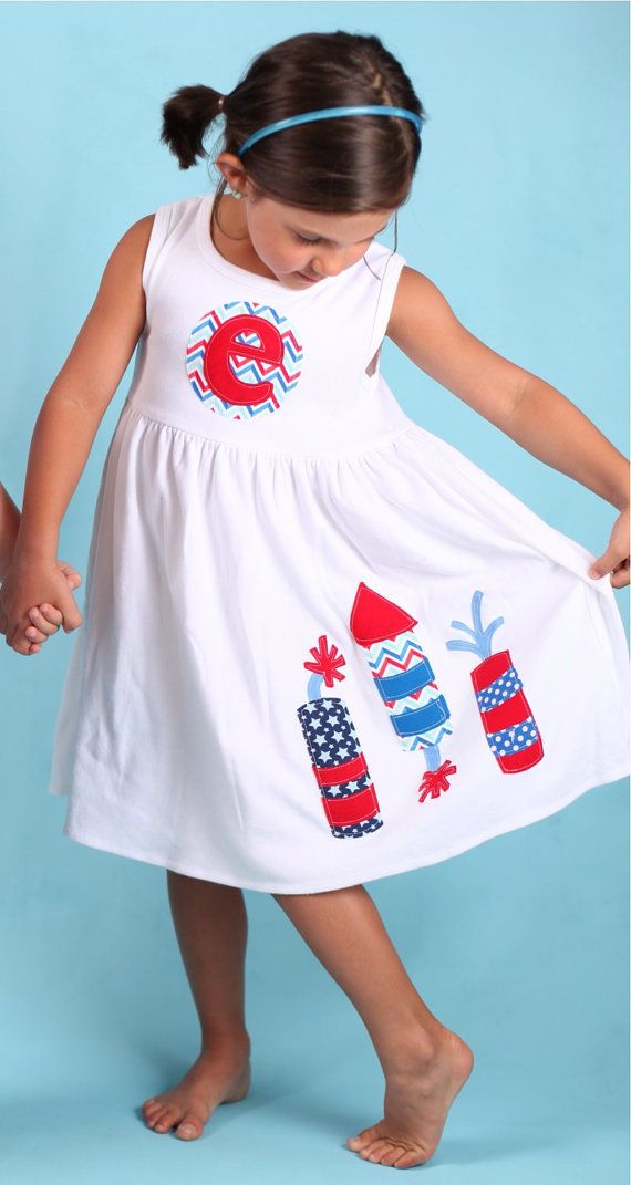 4th of July Fireworks Dress  by roundthebendagain on Etsy