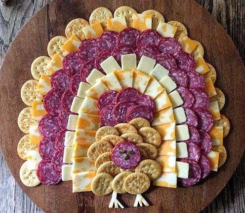 This fun and kid-friendly Thanksgiving appetizer is the epitome of cheap and cheerful, and is quick to assemble.