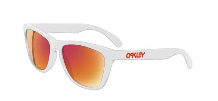 Oakley FROGSKINS, Color: Polished White/Ruby Iridium $100