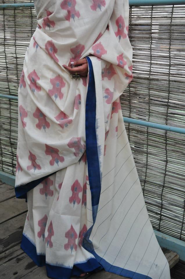 Translate Handwoven Ikat Saree