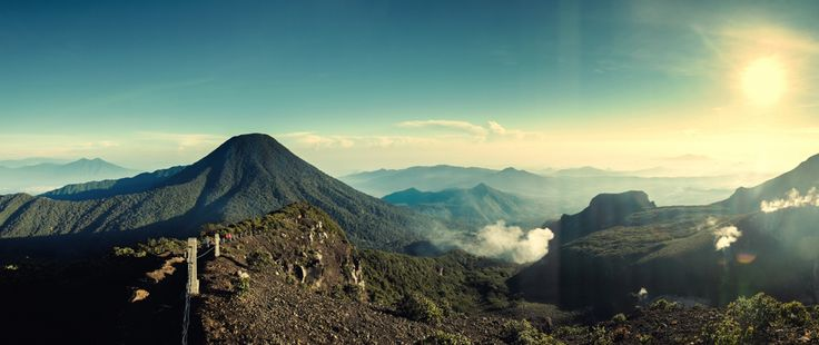 Gede mountain . West java