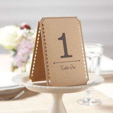 mariage numero de table : Les 12 numéros de table kraft