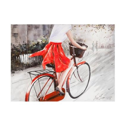 LADY IN RED WALL DECOR