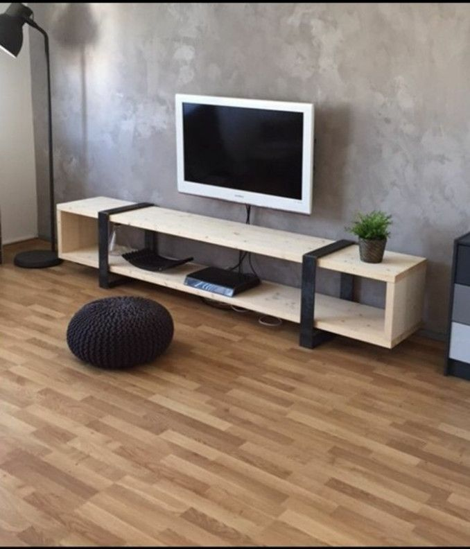 Idee Meuble Tv Original In 2020 Minimalist Living Room Living Room Tv Furniture