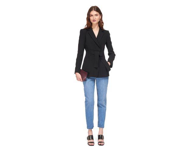 Limited Medlock Belted Jacket, in Black on Whistles