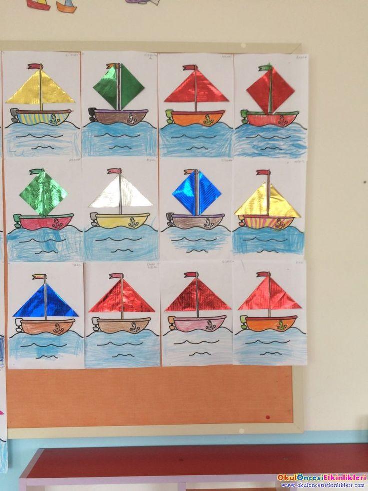 Yelkenliler sanat etkinliği - OKUL ÖNCESİ ETKİNLİKLERİ - Hayallerinizi Sınırlamayın