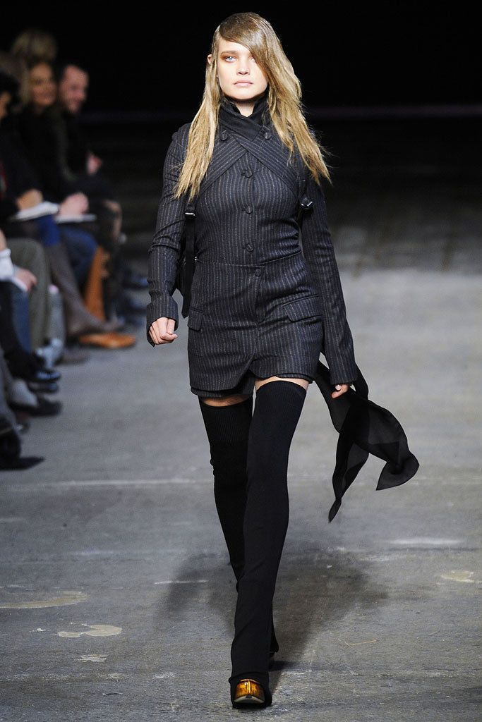 ALEXANDER WANG Brown Striped Wool Blazer Jacket Coat EU 34 NEW US 4 / S