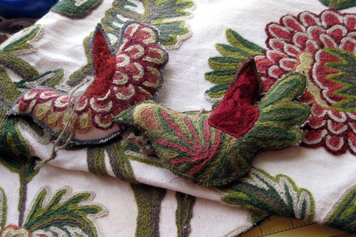 Fabric Samples become Beautiful Bird Ornaments | Save that Fabric!