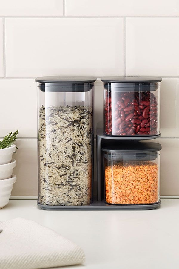 This Storage Set Has 3 Different Containers Plus A Clever Stand