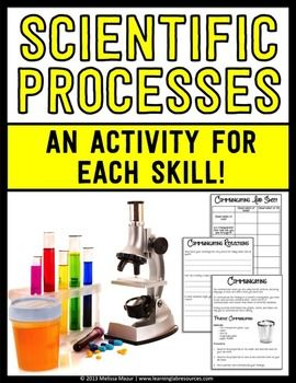 Science Process Skills - This product is a resource you can use to enhance your unit on scientific processes skills.  You will find 6 activities to teach each skill.  Each activity has a page that describes the skill with the procedure for a scientific investigation, a page for the lab sheet, and another page with reflection questions.___________________________________________________________________This is also included in my Science Units - Mega…
