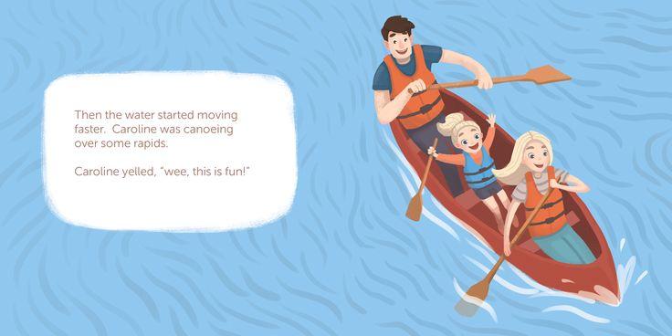"""Children's book """"Caroline goes canoeing"""" on Behance"""