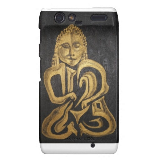 Buddha Mettalica Case Droid RAZR Cover Exotic Skin Case Design Case iPhone 5 Cases http://www.zazzle.com/vanwinkle 15% Off All Products! Be Sure to Use Premium/Express Shipping for Dad's Gift!   Use Code: 15PROMOONALL