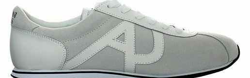 Armani White Suede/Leather Trainers Armani White Suede/Leather Trainers Colourway