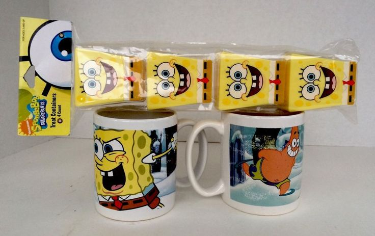 Sponge Bob Square Pants Patrick Star Coffee Mug Cup 2-Pack In a Gift Set | Collectibles, Decorative Collectibles, Mugs, Cups | eBay!