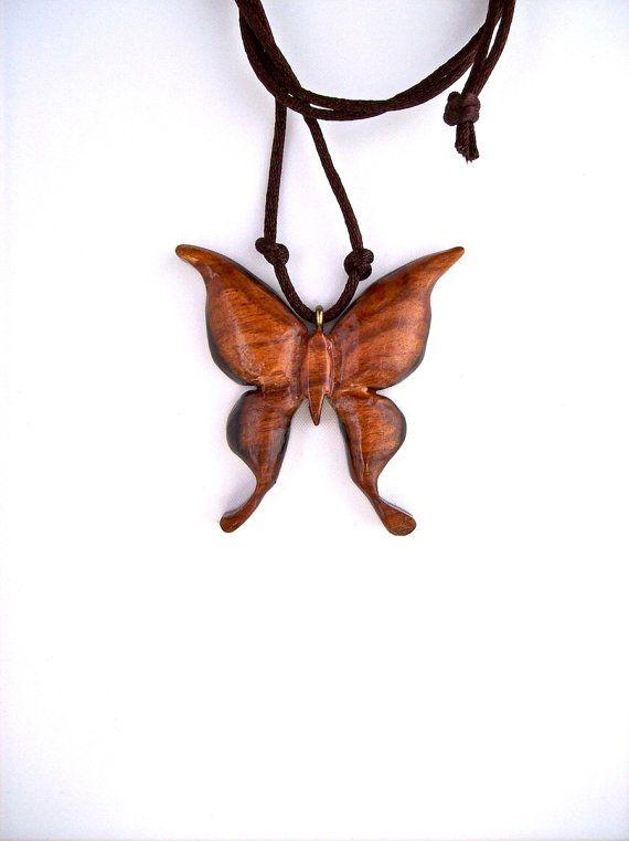 Wood Jewelry Butterfly Wood Pendant Rosewood by GatewayAlpha, $22.95