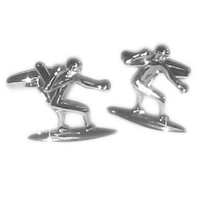 #Silver surfer dude #cufflinks with gift pouch cornwall newquay surf #surfing boa,  View more on the LINK: 	http://www.zeppy.io/product/gb/2/291356015871/