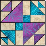 Triangle Chain free quilt block pattern