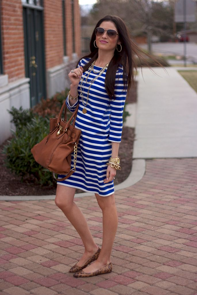 Nautical+Gold...Summer Dresses, Fashion, Southern Charms, Summer Style, Animal Prints, Cute Outfit, Travel Outfit, Stripes Dresses, Bags