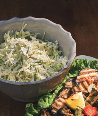 Creamy Cilantro-Lime Slaw - The slaw would be perfect with grilled pork or lamb, or use it as a topping for fish tacos.