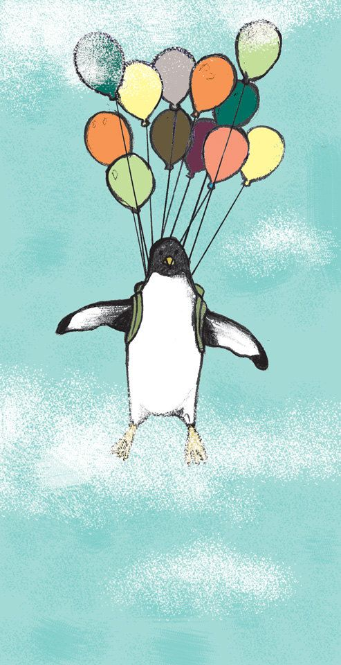 Penguin Art/Children Illustration/Art Print/Bedroom Decoration/Baby Room Art