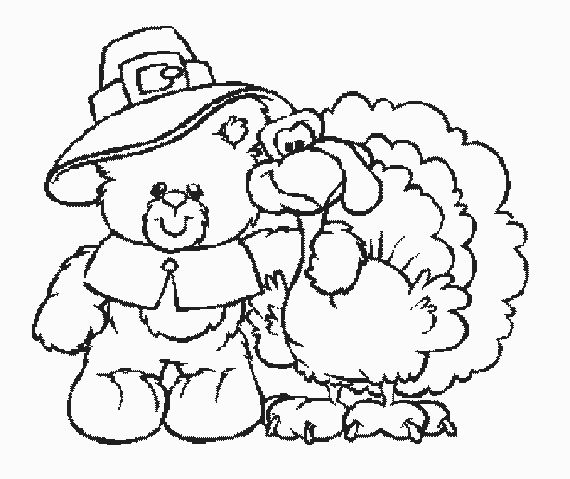 thanksgiving teddy bear coloring pages | 220 best Thanksgiving/Fall coloring and Crafts. images on ...