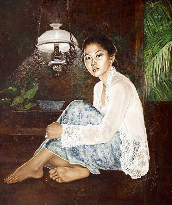 A portrait of a Peranakan lady..
