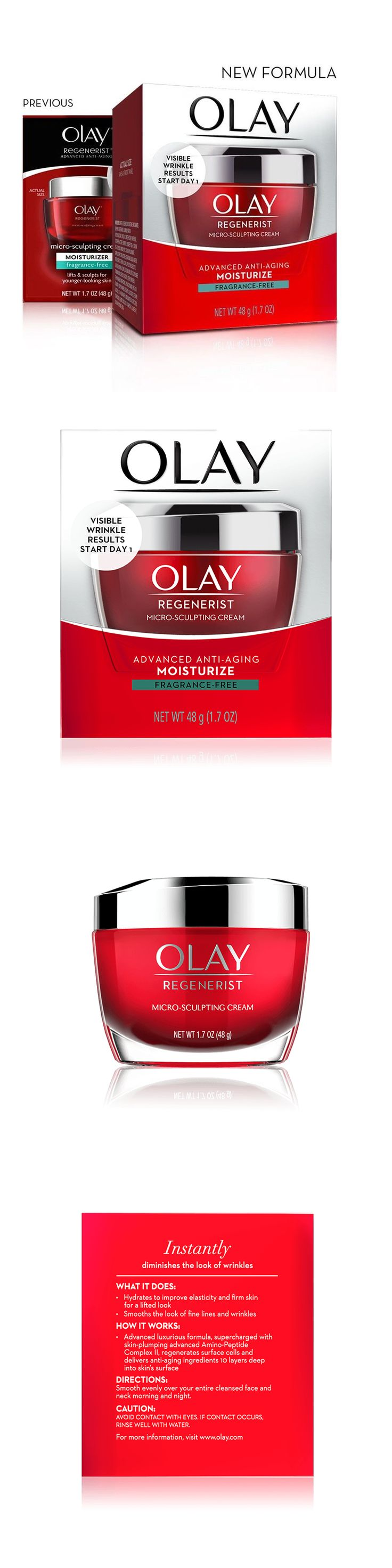 Anti-Aging Products: 2 Olay Regenerist Micro-Sculpting Cream Face Moisturizer 1.7 Oz Fragrance Free -> BUY IT NOW ONLY: $33.98 on eBay!