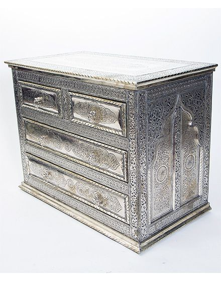 White Metal Maychor Chest of Drawers