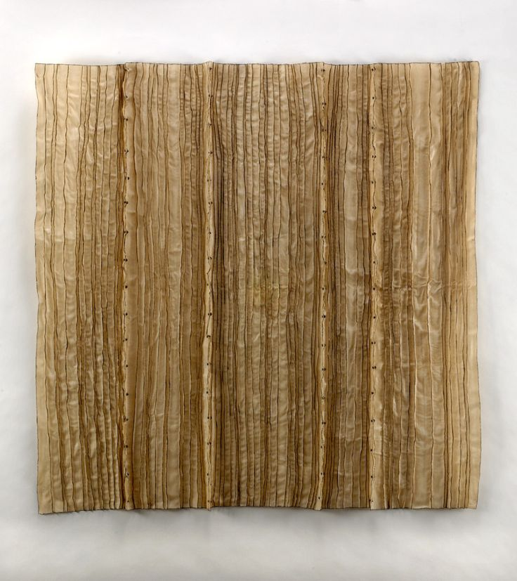 """Constrain to Vertical #4 2010, Waxed cloth, nuts, bolts, 40"""" x 40"""" x 40"""" by Brenda Mallory"""