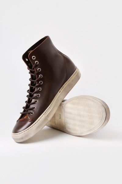 Fancy - Scuffed Leather Hi Top by Buttero