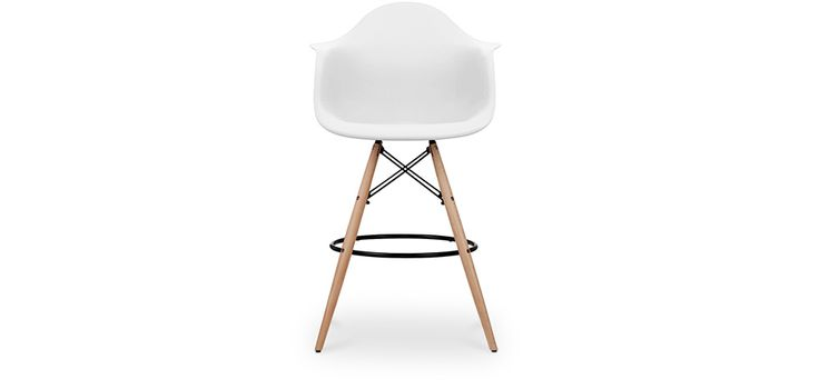 Tabouret de bar DAW Charles Eames Style - Polypropylène Matt