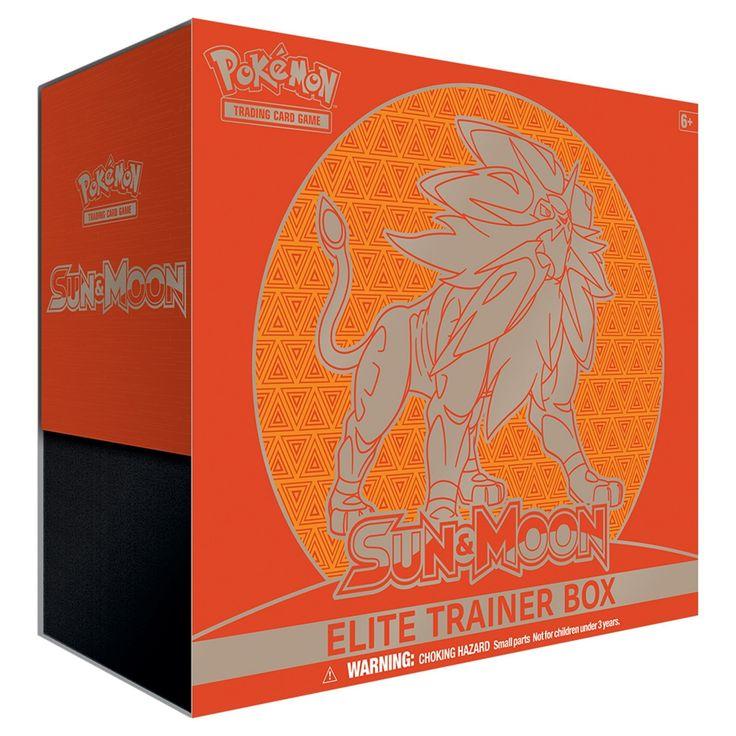 Pokemon Trading Card Game Sun Moon Elite Trainer Box featuring Solgaleo