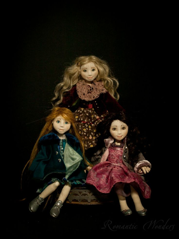 Leyla,Katie and Linda by 'Romantic Wonders Dolls'