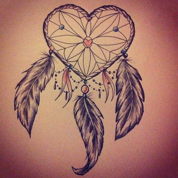 by Beau Victoria Redman. heart dream catcher with feathers