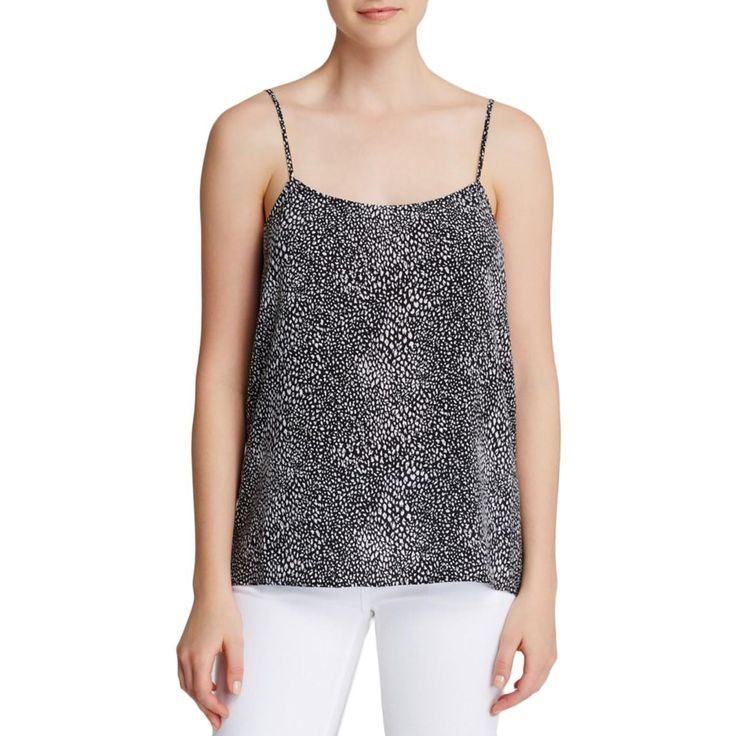Equipment Womens Cara Silk Animal Print Cami