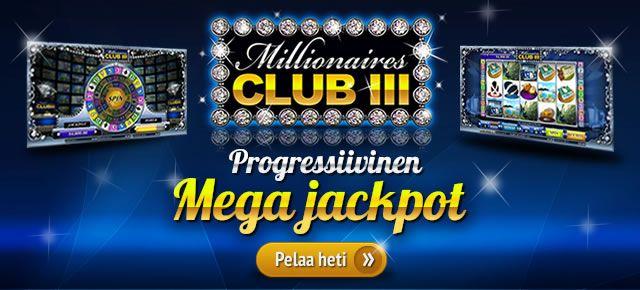 Millionaires Club 3 hedelmäpelin progressiivinen jättipotti on kasvanut jo yli 800 000 euron suuruiseksi!